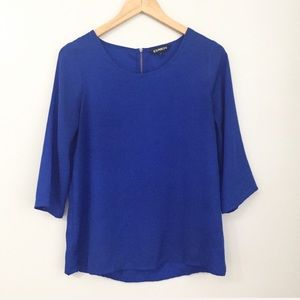 Express Blue Tunic Top Size Small